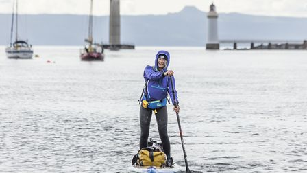 Cal Major is planning to stand-up paddleboard from Land's End to John O'Groats. Picture: Will Copest
