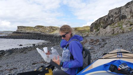 Cal Major is hoping to highlight plastic pollution during her 1,000 mile expedition. Picture: Cal Ma