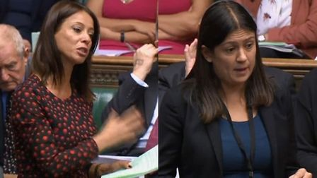 Gloria De Piero and Lisa Nandy in the House of Commons. Photograph: Parliament TV.