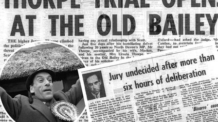 How the Gazette covered the trial of Jeremy Thorpe at the time. Pictures: Bideford and District Arch