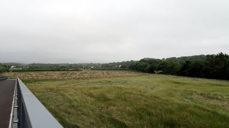 The site at Roundswell, viewed from the new A39 footbridge. Picture: Sarah Howells