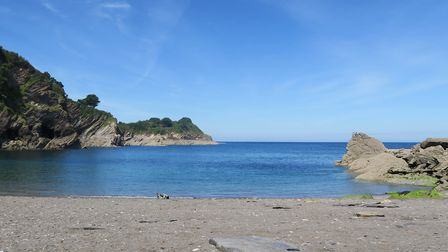 Broadsands beach near Combe Martin is a lovely North Devon wild swimming spot. Picture: Sarah Howell