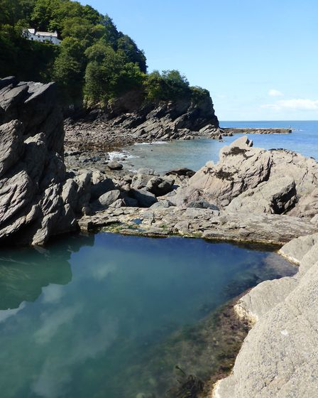 Woody Bay has a semi-natural tidal pool. Picture: Andy Keeble