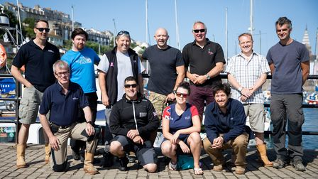he Help for Heroes dive team with members of Wessex Archaeology and Historic England. The wounded ve