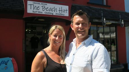 Ali and Sally Poll have opened up The Beach Hut in what was formerly Redwood in Croyde. Picture: Sar
