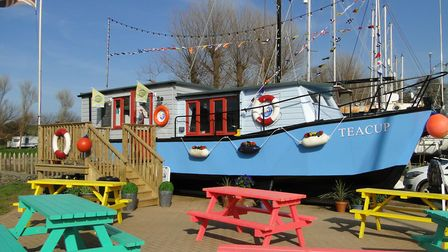 The Storm in a Teacup boat cafe at Watermouth Harbour. Picture: Tony Gussin