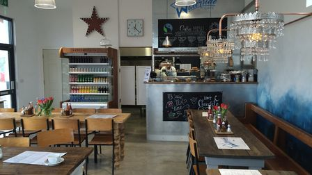 Inside the new Waterside Cafe at Chivenor