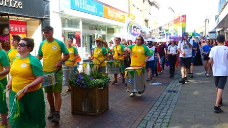 The first ever Gay Pride march in Barnstaple. Picture: contributed