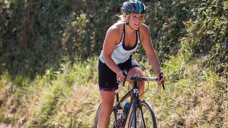 Olympic snowboarder Jenny Jones was one of the competitors at the Croyde Ocean Triathlon 2018. Pictu