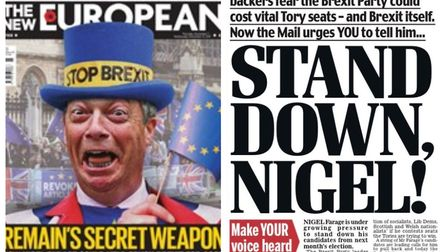 The Daily Mail has referenced The New European's front page as it asks Nigel Farage to stand the Bre