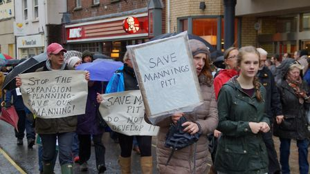 People of Pilton show their feelings for Mannings Pit