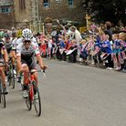 School children cheer on riders during the Tour of Britain. picture: Tour of Britain