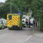 The scene of the collision in Barnstaple. Picture: Andy Keeble
