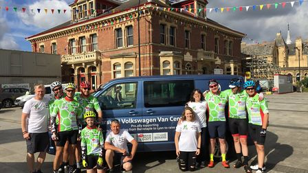 The Tour to Lyon set off from Barnstaple Square today (Friday). Picture: Ewan Somerville