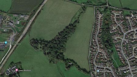 The plans would have seen up to 260 homes developed on land off Abbotsham Road. Picture: Google
