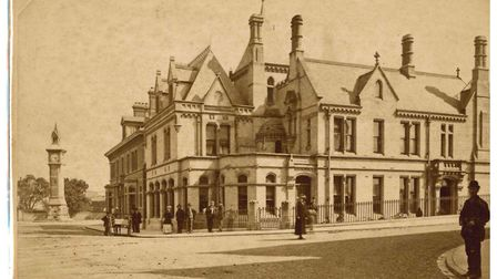 How it was: A building once stood in the same spot the new expansion is planned for. Picture: Museum