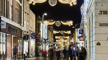 Christmas in Barnstaple. Picture: Bob Collins
