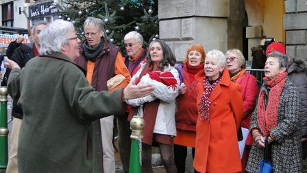 Choirs entertained crowds as GreatTorrington celebrated a Christmas 'Who-billation' on Saturday. Pic