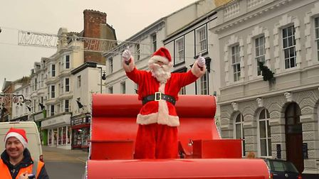 Bideford's Santa is back on his sleigh tours. Picture: Austin Wallas
