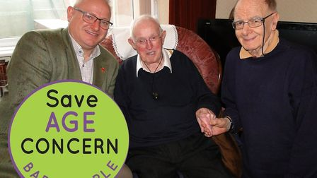 Age Concern Barnstaple helps war veterans such as Ken Breading, pictured with mayor Ian Roome and vo