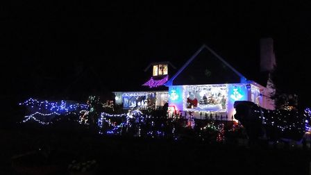 The Christmas house in Yelland.