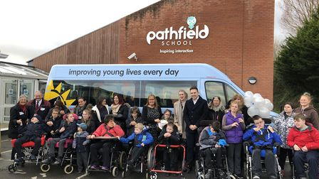 Pathfields School has a new minibus thanks to Variety and Vado. Picture: Matt Smart