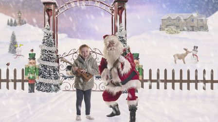 Freya Shelton, aged 11, from Barnstaple, photographed as part of the Christmas Wish Project at Child