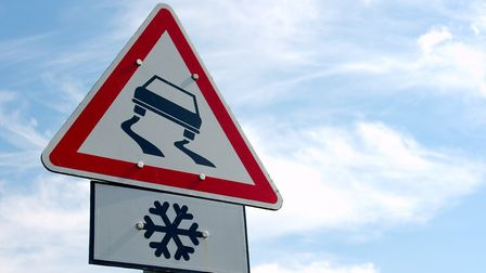There could be icy patches on the roads tonight.