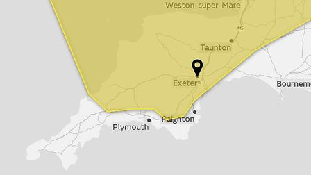 A yellow weather warning was issued by the Met Office yesterday and remains in force today. Picture: