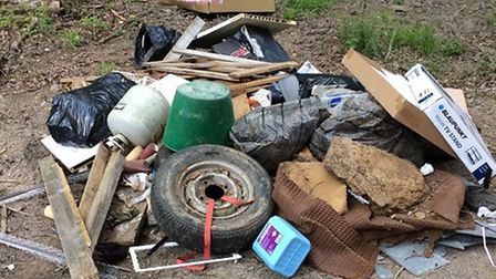 The waste found dumped at Filleigh. Picture: NDC