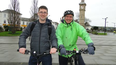 North Devon's new Green Party prospective parliamentary candidate Robbie Mack with his predecessor R