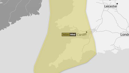 The Met Office has issued a yellow weather warning for wind this weekend.