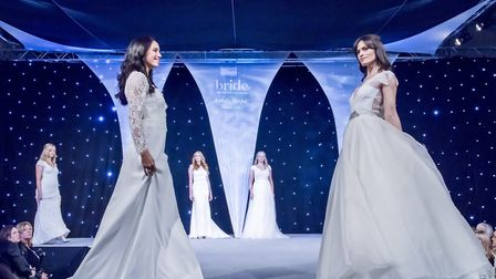 On the catwalk at The Wedding Show. Picture: Archant