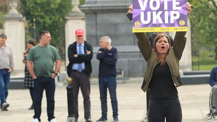 A UKIP supporter in Middlesbrough. Photograph: Danny Lawson/PA.