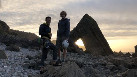 Viewers will see climbers Mark Bullock and George Malkin take on the famous Blackchurch Rock near Cl