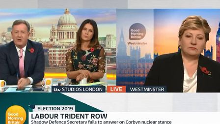 """Emily Thornberry said: """"The use of a nuclear weapon is a decision on a level that no politician anyw"""
