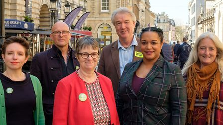 The Green Party South West European election candidates. Picture: Jon Craig Photos