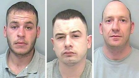 Christopher Hommell, Dominic Viner and Adam Moulton were all sent to prison.
