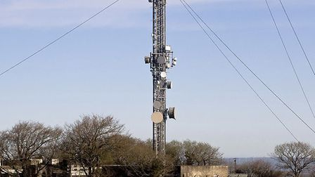 The television transmitter at Huntshaw Cross. Picture: Roger A Smith