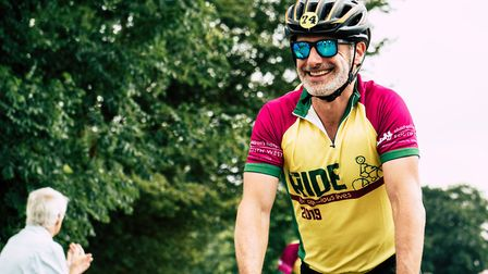 Love Actually star Andrew Lincoln was among the cyclists taking part in Children's Hospice South Wes