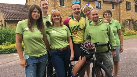 Love Actually star Andrew Lincoln, pictured with fundraising staff at the Little Bridge House hospic
