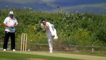 Adrian Isherwood bowling for North Devon against Plymouth. Picture: Matt Smart