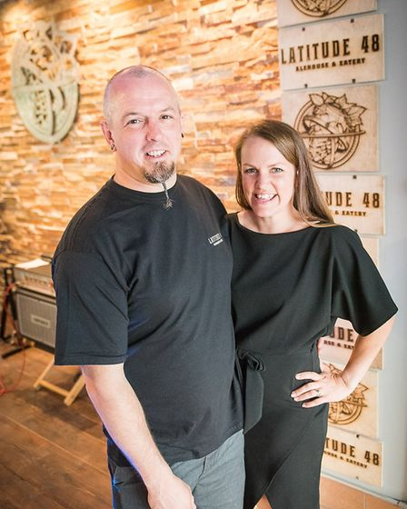 Latitude 48 owners Liam and Lucy Fairlie in the new Barnstaple High Street bar. Picture: Indigo Pers