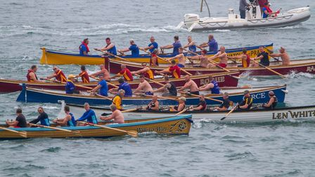 Action from the Ilfracombe Gig Regatta. Picture: ROBERT NEWALL