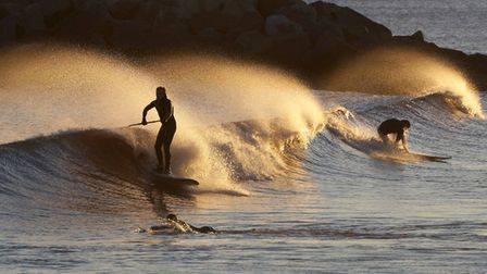 Surf's up tomorrow but beach users have been advised to take care. Picture: Eve Mathews.