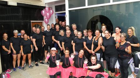 Members of Absolute Training and Nutrition in Barnstaple have rallied around Denise Russell (left, c