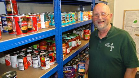 Duncan Withall, Northern Devon Foodbank chairman, says there has been a 20 per cent increase in dema