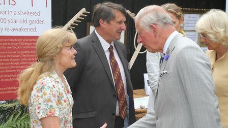 The royal visit to Simonsbath on the Somerset border with North Devon by Their Royal Highnesses Prin