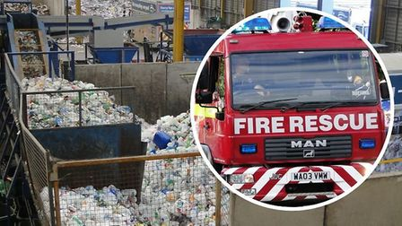 A second fire broke out at the recycling centre at Brynsworthy.