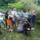 NCS Team 14 with their litter sculpture in support of Plastic Free North Devon. Picture: PFND
